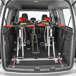 Cykelhållare för skåp eller flak